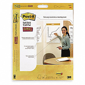 "Wall Pad, Plain Paper Type, 23 x 20"" Sheet Size, Number of Sheets 20"
