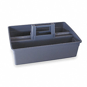Gray, Plastic Carry Caddy, 1 EA