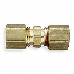 "Metal, Brass, Compression Connection Type, 5/8"" Tube Size"