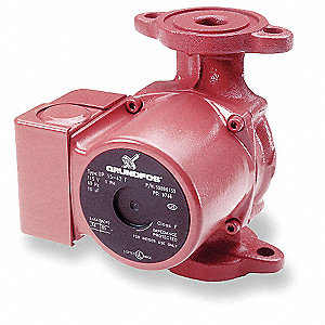 Hot Water Circulator Pump,1/25 HP,115V