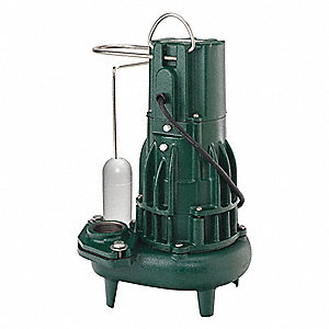 Submersible Sewage Pump,1/2HP,115V,26 ft