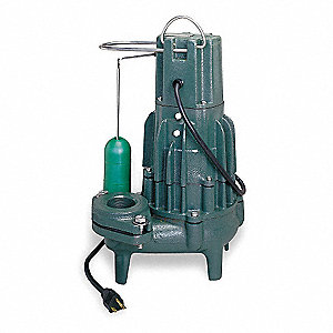 Submersible Sewage Pump,1HP,230V,50ft