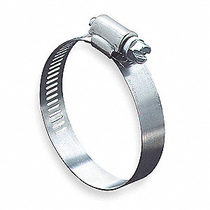 Worm Gear Hose Clamp, Interlocked Clamp Type, SAE Number 64