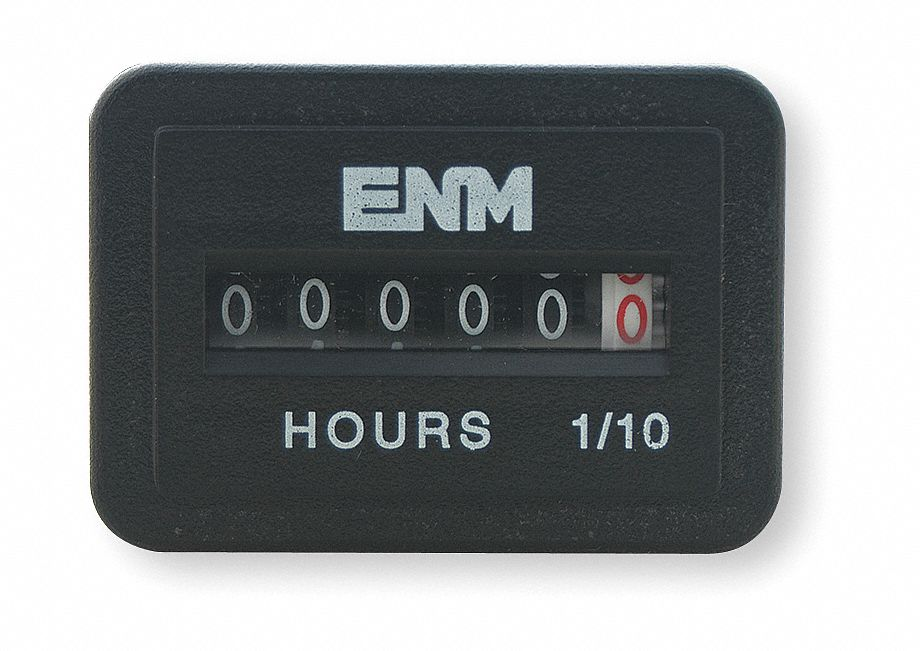 Electric Motor Hour Meters : Enm hour meter to vdc operating voltage number of
