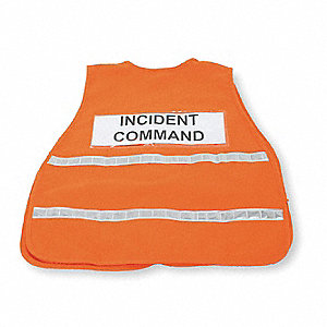 Safety Vest,Incident,Polyester,Orange