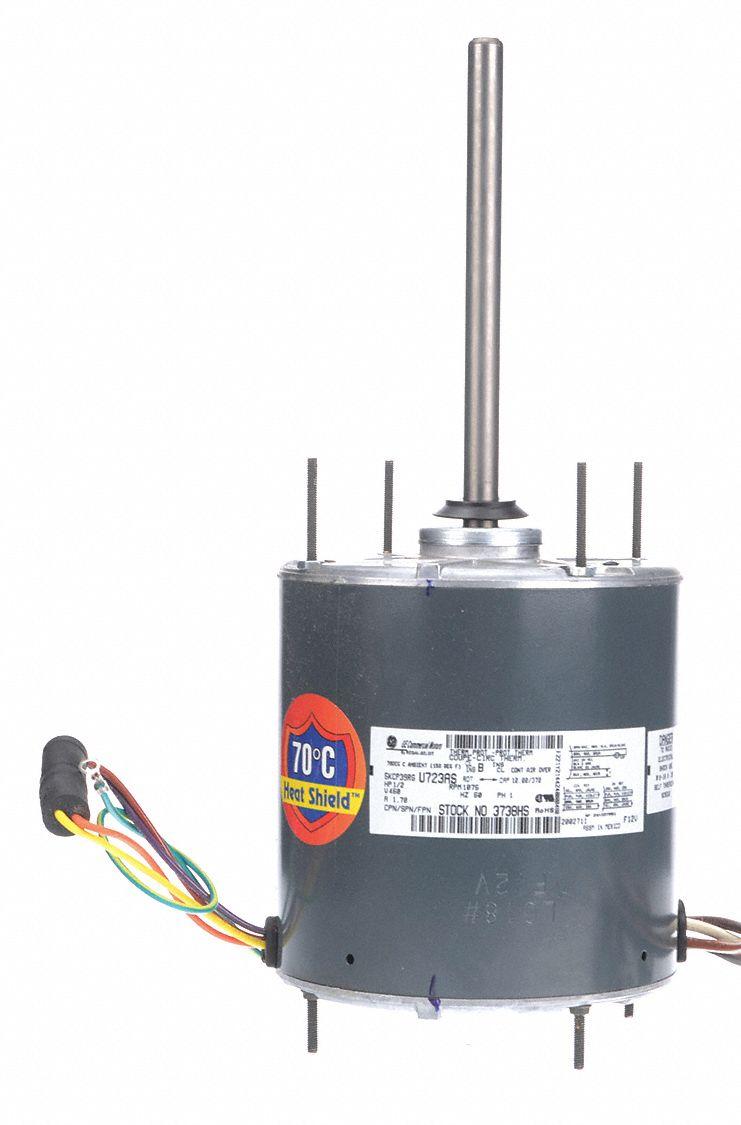 Genteq 1 2 hp condenser fan motor permanent split for Best lubricant for electric fan motor