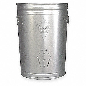20 gal. Silver Metallic Stationary Recycling Container, Open Top