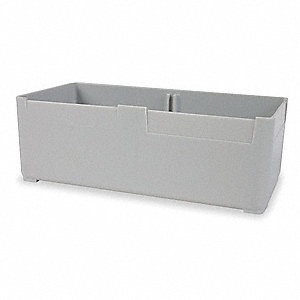 "Storage Bin, Gray, 6-1/8"" Outside Length, 3"" Outside Width, 2-1/8"" Outside Height"