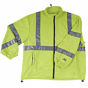 Jacket,Safety,Type 3,Lime,Fleece,L