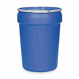 Transport Drum,Open Head,30 gal.,Blue