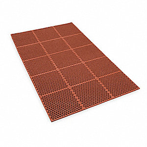 Modular Kitchen Runner,Red,3ft. x 6ft.