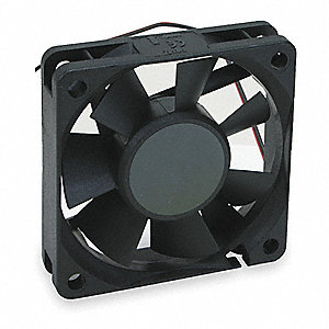 "Square Axial Fan, 2-3/8"" Width, 2-3/8"" Height, 5VDC Voltage"