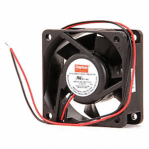 "Square Axial Fan, 2-3/8"" Width, 2-3/8"" Height, 12VDC Voltage"