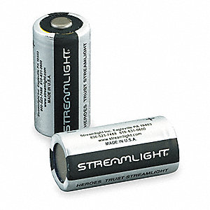 Lithium Battery, Voltage 3, Battery Size CR123A, 6 PK