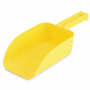 Small Hand Scoop,Poly,32 Oz,Yellow