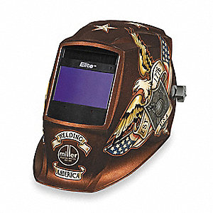 Welding Helmet, Brown Vintage with Eagle, Elite