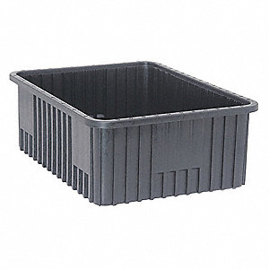 "ESD Conductive Divider Box, 22-1/2"" Outside Length, 17-1/2"" Outside Width, 8"" Outside Height"