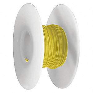 Wire Wrapping Wire, Yellow, 26 AWG Wire Size, 100 ft. Length