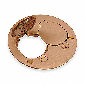 Steel City Floor Box Cover Brass Shape Round 4 Quot Length