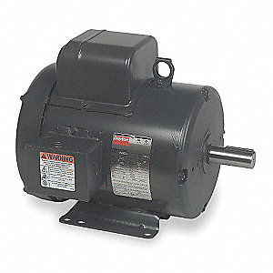 5 HP General Purpose Motor,Capacitor-Start,1740 Nameplate RPM,Voltage 230,Frame 184T