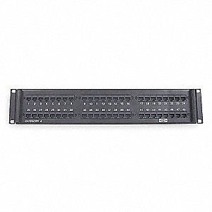 Patch Panel, 14 Gauge Steel, Category Type: 6, Panel Type: Rear Access, Panel Style: PCB Design