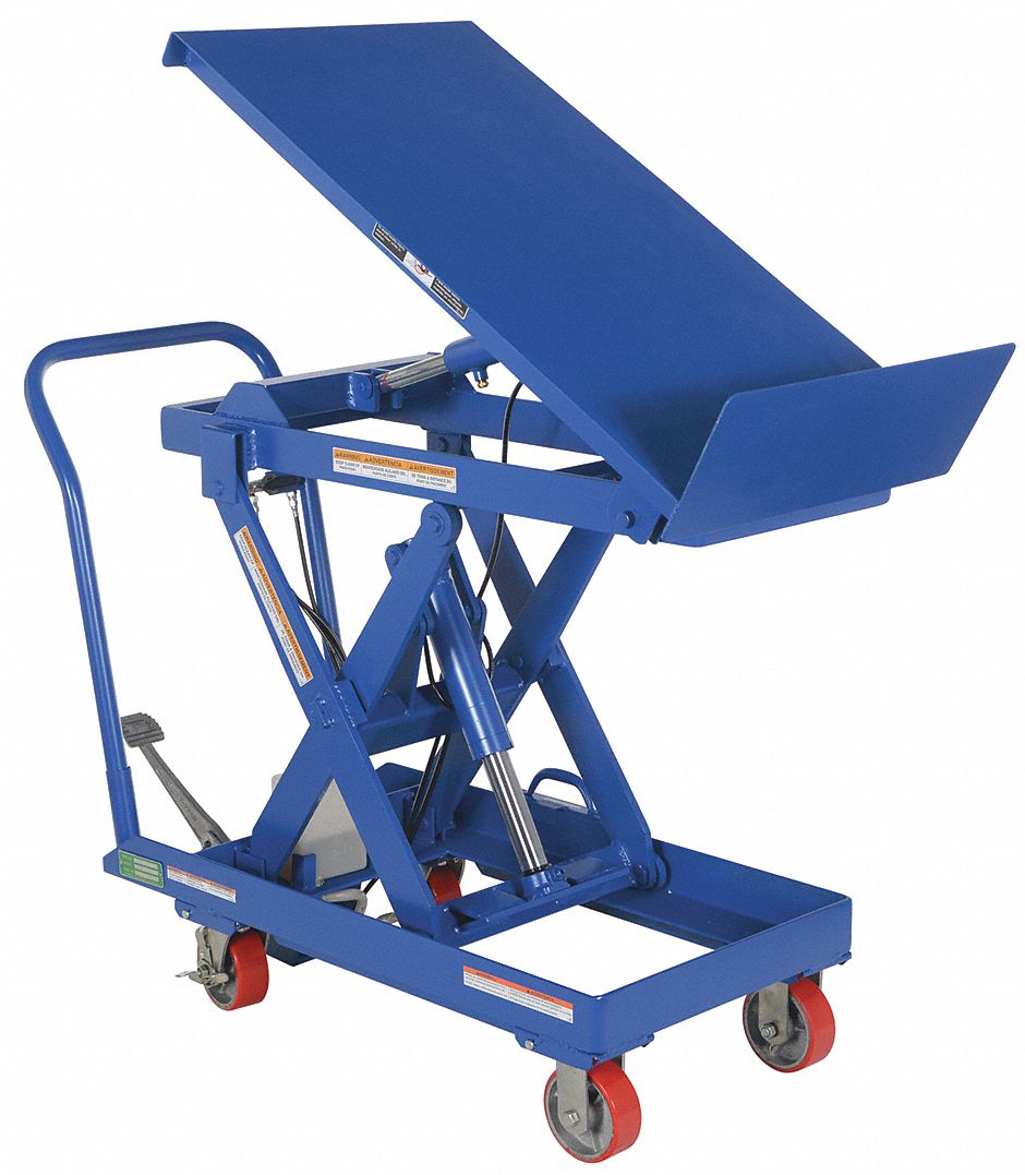 Grainger Approved Mobile Scissor Lift Table 500 Lb Load