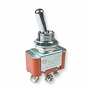 Toggle Switch,SPDT,3 Conn.,On/On