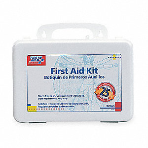 First Aid Kit,Bulk,White,25 People