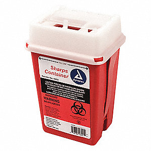 Sharps Container,1/4 Gal.,Hinged Lid