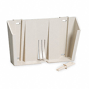 Locking Wall Mount Bracket,Plastic,Beige