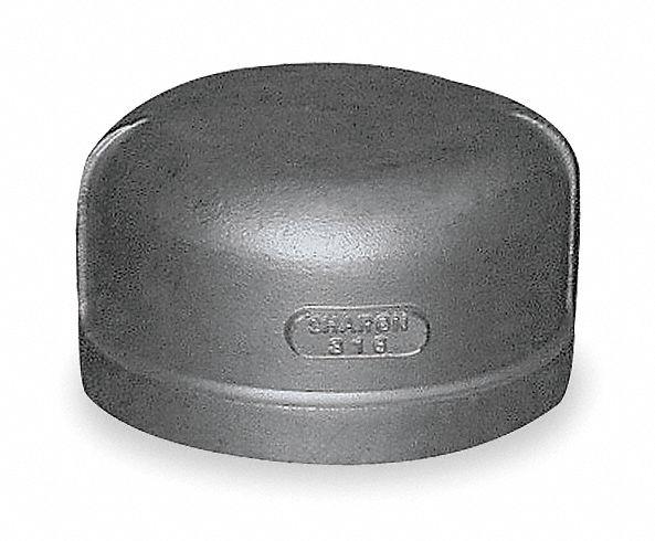 Grainger approved stainless steel cap fnpt
