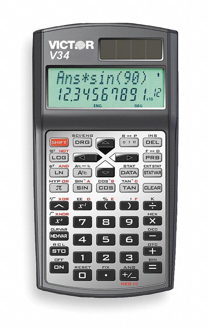 Victor Scientific Calculator 10 Display Digits 6 Quot Length