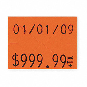 Florescent Red Pricing Label Kit, Number of Lines 2