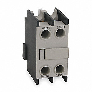 IEC Auxiliary Contact Block, 3/1.5 Amps, Front Mounting