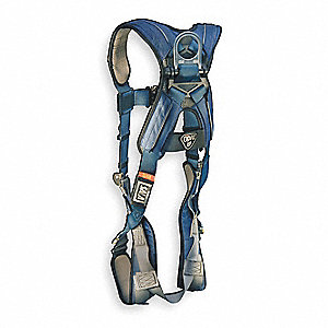 Full Body Harness,XL,420 lb.,Blue/Gray