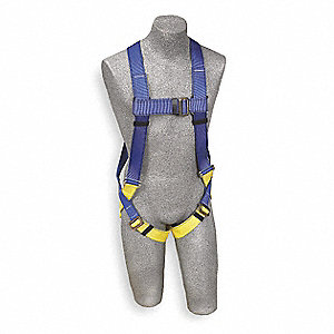 Full Body Harness,Universal,310lb,Blk/Bl
