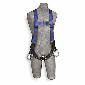 Full Body Harness,Universal,320lb,Blk/Bl