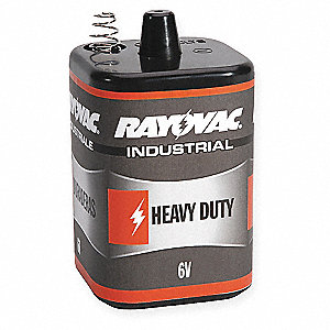 Heavy Duty Heavy-Duty  Lantern Battery, Voltage 6.0, Spring Terminal Type