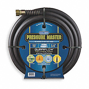Water Hose,Rubber/Rsin,3/4 In ID,50 ft L
