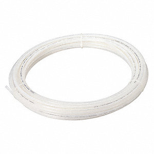 Tubing,1/2 In OD,Nylon,Natural,100 Ft