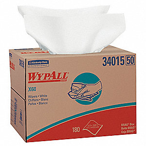 White Hydroknit(R) Disposable Wipes, Number of Sheets 180