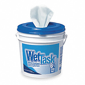 "Disposable Wipes, 12"" x 12-1/2"", 90 Wipes per Container, 6 PK"
