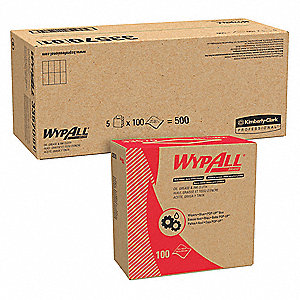 "Disposable Wipes, 8-4/5"" x 16-4/5"", 100 Wipes per Container, 5 PK"