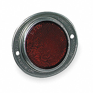 Reflector,Armored,Red,Dia 4  11/16 In