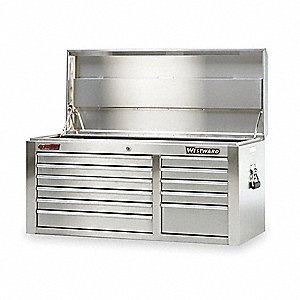 "Silver Top Chest, 42"" Width x 17-3/4""  Depth x 19-7/8"" Height, Number of Drawers: 11"