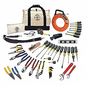 General Hand Tool Kit, Number of Pieces:  41, Application:  Journeyman