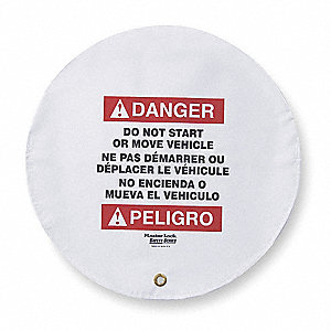 Danger Sign,16 x 16In,R and BK/WHT,Vinyl