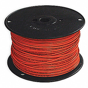 Building Wire,THHN,12 AWG,Red,500ft