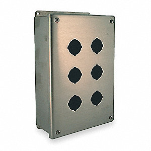 Pushbutton Enclosure, 4, 12, 13 NEMA Rating, Number of Columns: 2