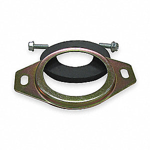 Return Flange,hyd,Steel, For 1 1/4 Pipe